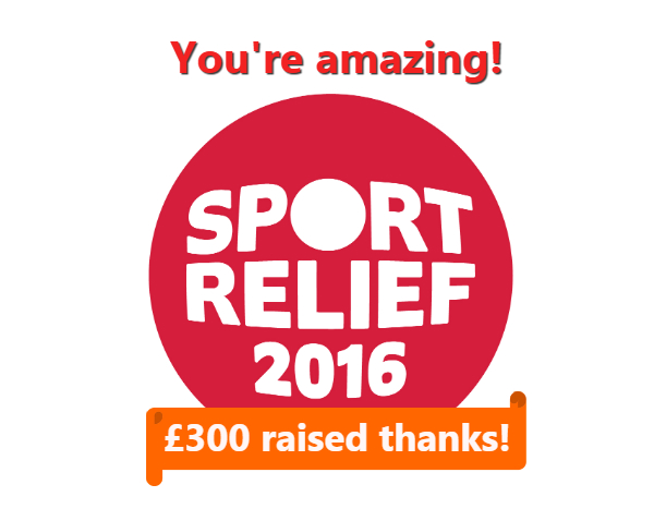 Sport Relief 2016 Thank You
